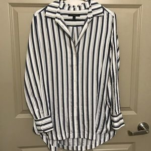 BANANA REPUBLIC PARKER TUNIC WHITE BLUE AND GOLD